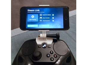 Steam Controller GoPro style compact phone mount