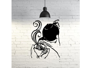 Tea time wall sculpture 2D