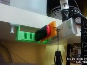Soporte colgante USB