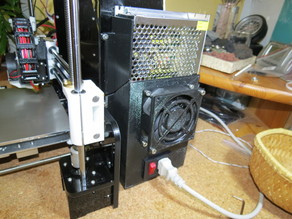 Anet A8 power supply cover with fan mount and power switch socket