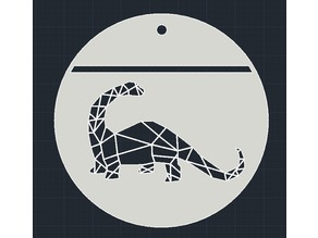 Dinosaur Fossil Pendant