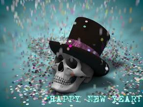 Happy New Year from Mr. Skull