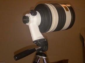 T-mount lens to telescope eyepiece tripod mount
