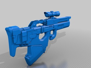 Destiny Exotic scout rifle Mida Multitool 1:1 Scale