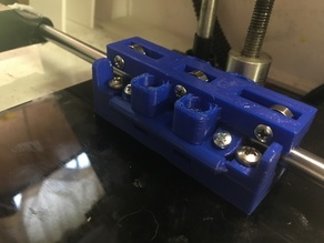 Clearance Remix for Adjustable Robo 3D R1+ Y axis bearing blocks