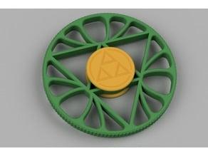 Triforce Lotus Fidget Spinner (Zeldathon Response)
