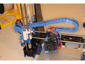 Y cable chain to extruder with Z-enstop for Anet A8 - left side