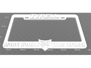 Tyrell Genetic Replicants - More Human Than Human, License Plate Frame, Bladerunner
