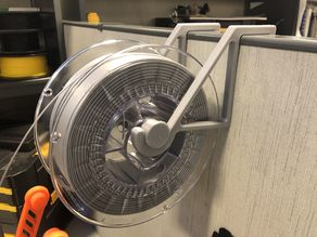 Spool Holder for Office Cubicle
