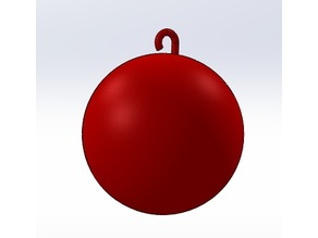 Christmas Tree Ball HD STL - Customizable by Scaling