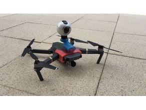 Gear360 cam mount on DJI Mavic Pro