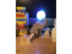 Elephant playing with ball nightlight