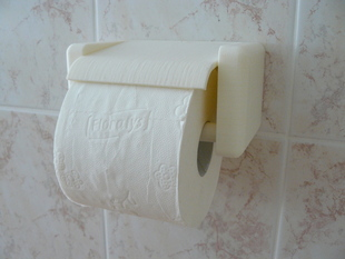 Quick change toilet paper holder