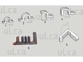 Cables - wires organizer kit (kit ferma cavi)  by uLca