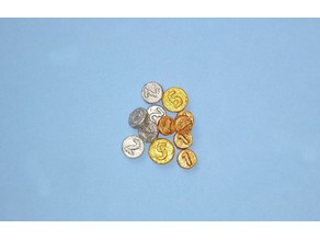 Coins sized for Playmobil or Sylvanian Families