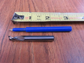 "1/4 inch spring loaded ""router bit"" ink pen"