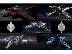 Star Citizen Modular F7C Anvil Hornet w/ Super Hornet