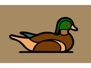 Wood Duck Fridge Magnet