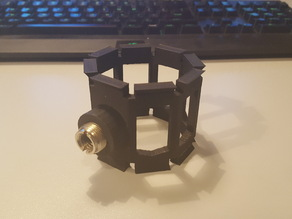 Microphone shock mount threaded