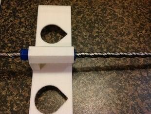 SDS drill bit lead screw experiment