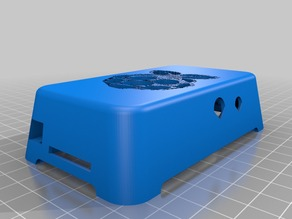 Raspberry Pi Case / Cover for Model B - One-piece design with snap-in clips
