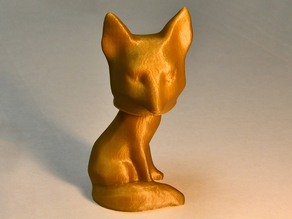 Bobble head fox from 3D scanned fox decor