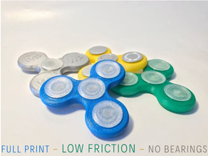 Fidget Spinner - low friction - no bearing! - fullprintable