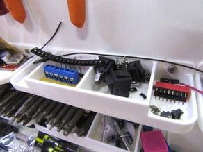 Mini component shelf