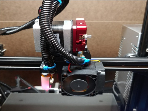 ENDER 3 / CR-10 Direct Extrusion Mount by jmccarty1974
