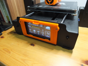 Wanhao i3 Plus Touchscreen Cover (Print in Place hinge)