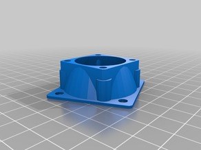 30mm to 40mm fan adapter - rotated 40mm fan to fit Toranado & E3D V6 Extruder
