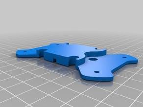 Bottom plate for battery Piratframe sloop v1.5 Pirat frame