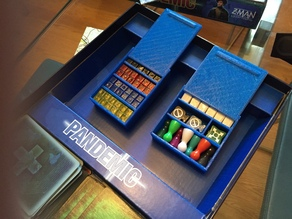Pandemic game piece slide cases