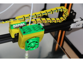 CR-10 x-axis cable chain