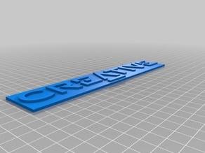 Creative Labs logo/plaquette