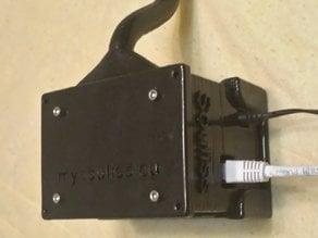 Caja para Arduino UNO + Shield W5100 +  Modulo 4 reles, con soporte para pared, para proyectos Souliss