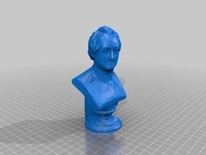 Bust of Johann Wolfgang von Goethe( + Low Poly Goethe)