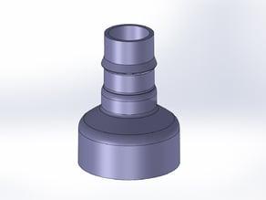 Vacuum hose adaptor 2-1/4 to 1-1/4