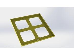 Carré 100x100 mm pour étalonnage steps/mm Axes X & Y Prusa i3