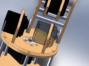 Wall mountable wire spool holder.