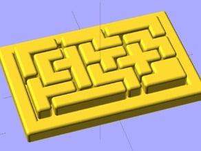 Ekobots - Wooden box puzzle.