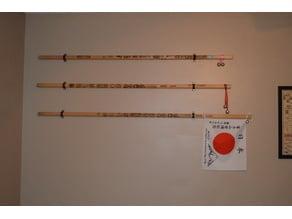Mt. Fuji Walking Stick Wall Display Bracket
