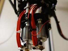 Printed Dual Extruder Holder and Wider Effector Platform for Rostock Max V2