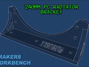 240mm PC Radiator Mounting Bracket