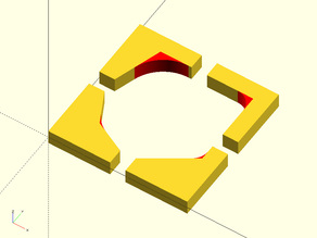 OpenSCAD Fillet Angle Module/Library