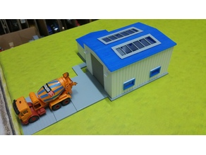 Truck Repair Garage 1:87 H0