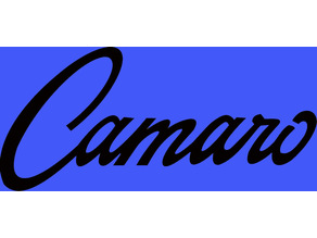 Vintage Camaro badge