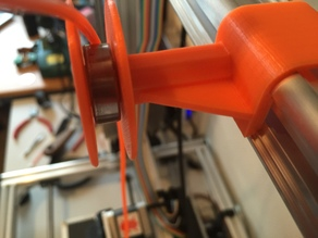 Filament Guide Clip On with Bearing and Lock (extra strength)