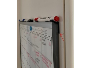 Minimalistic whiteboard pen holder