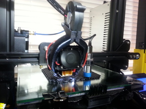 CR10 Ender 3  EZABL Fang with reversed blower mount and LED holders
